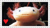 STAMP: Axolotl Love v1 by Ellamenopea