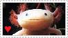 STAMP: Axolotl Love v1 by Ellamenopea