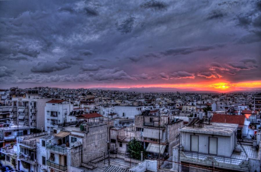 Athens Dusk by GlueR