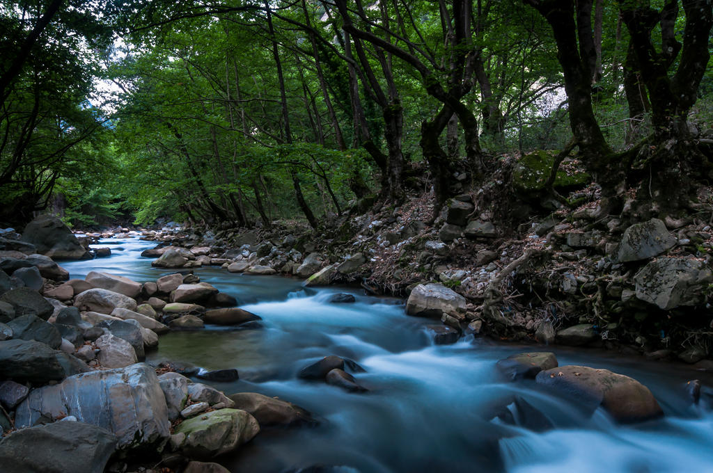 A small river near Prousos in Evrytania - Greece by GlueR