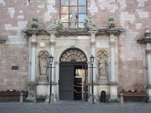 An entrance to the church