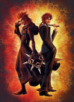 KH2+FFVII: Axel and Reno