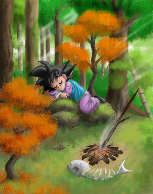 Goten_Asleep_in_the_Forest