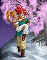 Chrono and Marle by Risachantag