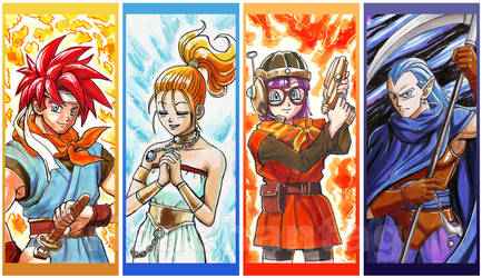 Chrono Trigger bookmarks by Risachantag