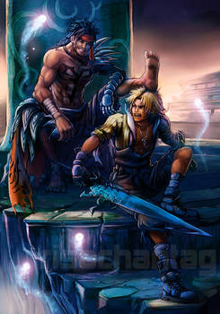FFX Dissidia: Jecht and Tidus