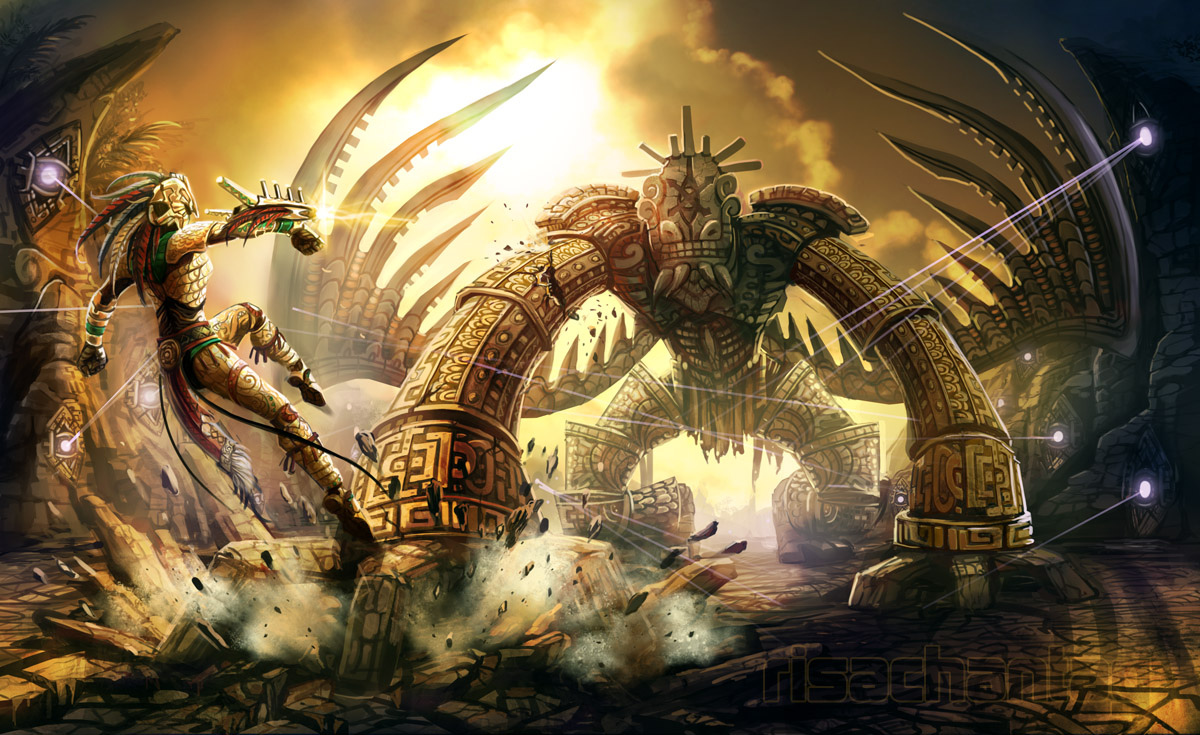 Original: Ancient Golem Battle by Risachantag