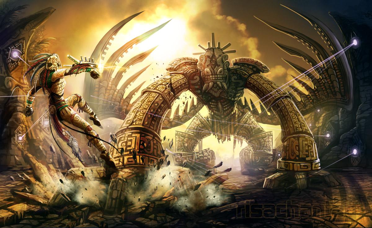 Original Ancient Golem Battle By Risachantag On Deviantart