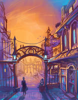 Original: Town Scene by Risachantag