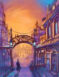 Original: Town Scene
