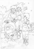 Gohan, Videl and Goten by Risachantag