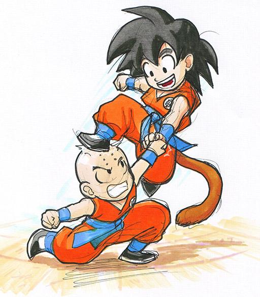 Db Goku And Kuririn By Risachantag On Deviantart