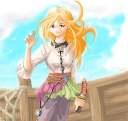 Girl on a Ship by Risachantag