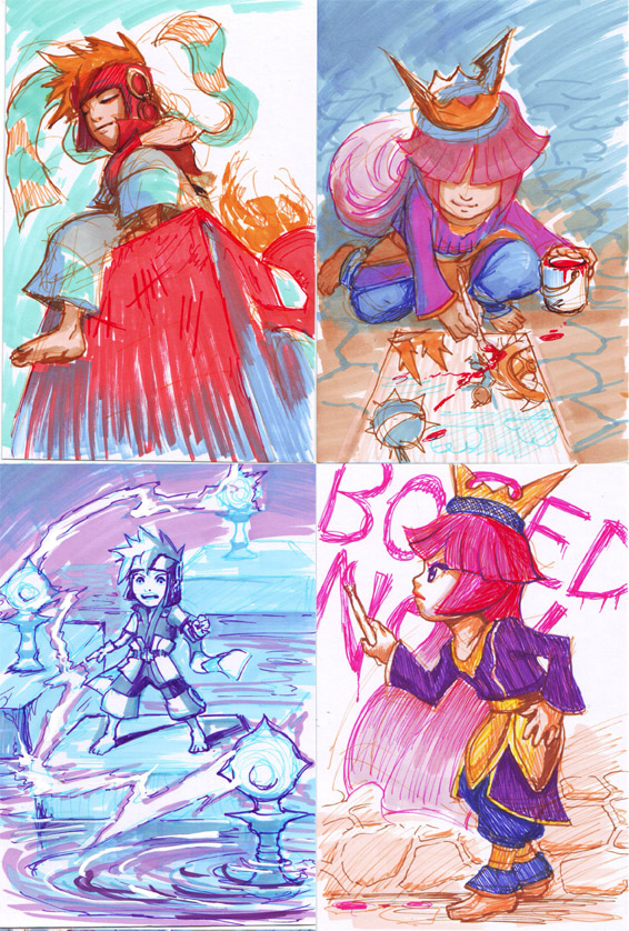 Freedom Fall: Sketch Cards by Risachantag