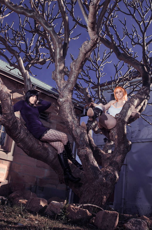 Cosplay: Thriller Bark Robin and Nami by Risachantag