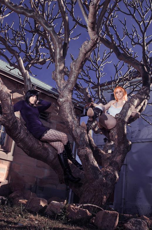 Cosplay: Thriller Bark Robin and Nami by Risachantag