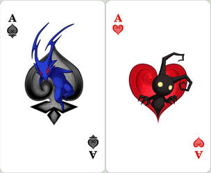 KH: Ace of Spades and Hearts by Risachantag