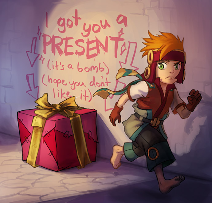 Freedom Fall: I got you a present by Risachantag