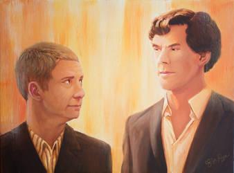 Sherlock and Watson by Risachantag