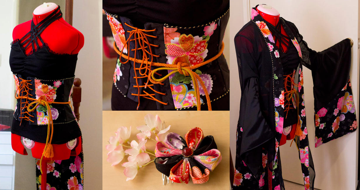 Kimono top and Obi-corset by Risachantag