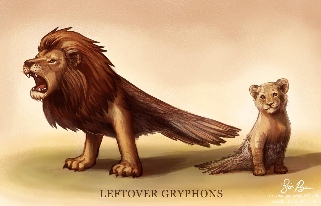 Griffons Leftover_gryphons_by_risachantag-d7itj4y