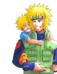 Naruto: Naruto and Yondaime by Risachantag