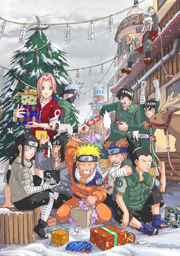 Blagues et Histoires droles. - Page 2 Naruto__Christmas_by_Risachantag