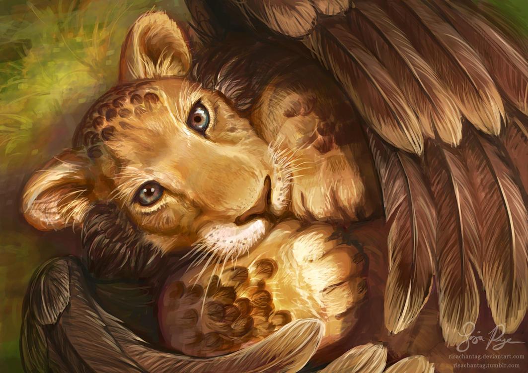 Winged Cub by Risachantag