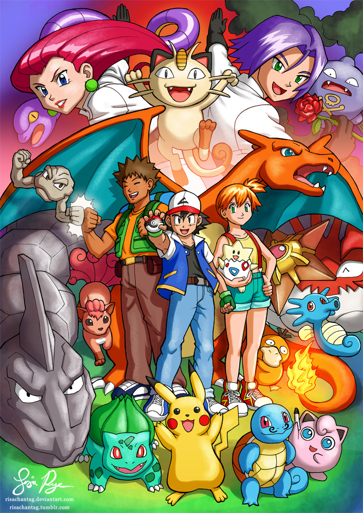 Old School Pokemon by Risachantag