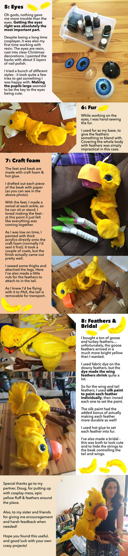 Making of Bobbin the Chocobo Puppet Part 2