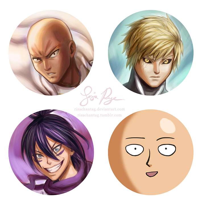 One Punch Man Pin Set by Risachantag