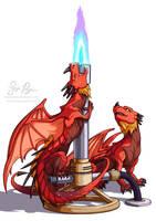 Bunsen Burner Dragons by Risachantag