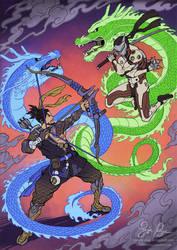 Overwatch Dragons Ukiyo-e by Risachantag