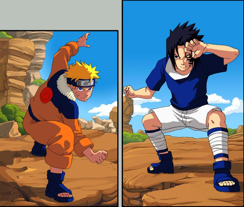 [Galerie] Naruto Versus Sasuke _by_Risachantag