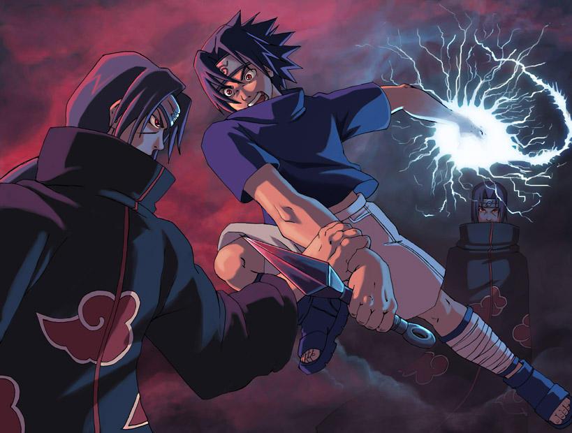 các cặp đối nghịch nhau ấn tượng nhất trong naruto Naruto__Sasuke_vs_Itachi_by_Risachantag