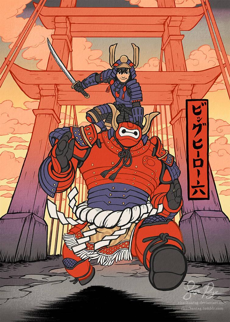 Big Hero 6 Ukiyo-e by Risachantag