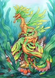Leafy Seadragon by Risachantag