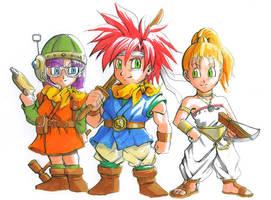 Chrono Trigger: Chibis by Risachantag