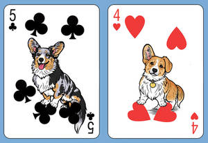 Corgi Deck Number Cards