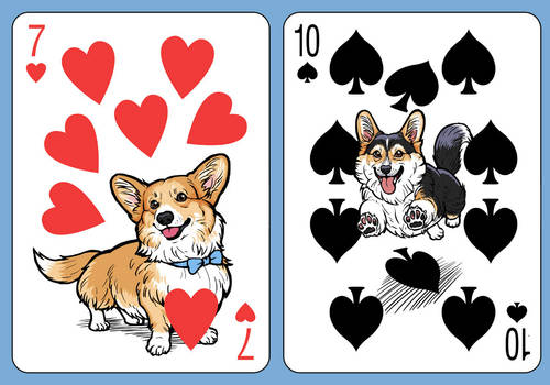 Corgi Deck Number Cards 2