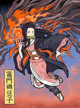 Nezuko Kamado Ukiyo-e