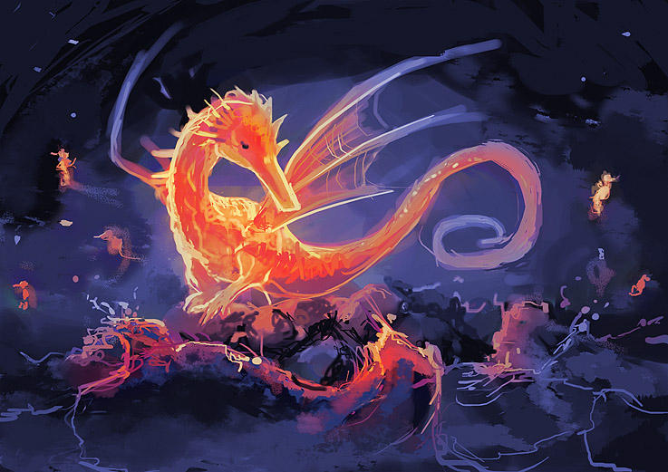 Dragon seahorses