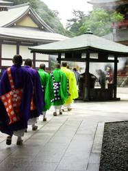 Japan: Monks of Naritasan by Risachantag