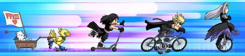 FFVII: One Wheeled Angel by Risachantag