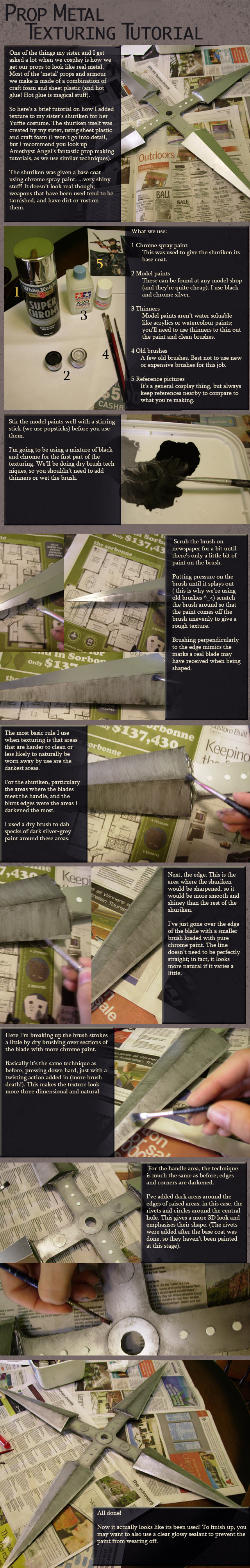 Cosplay:Metal Texture Tutorial by Risachantag