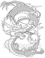 Chinese Dragon Tattoo by Risachantag