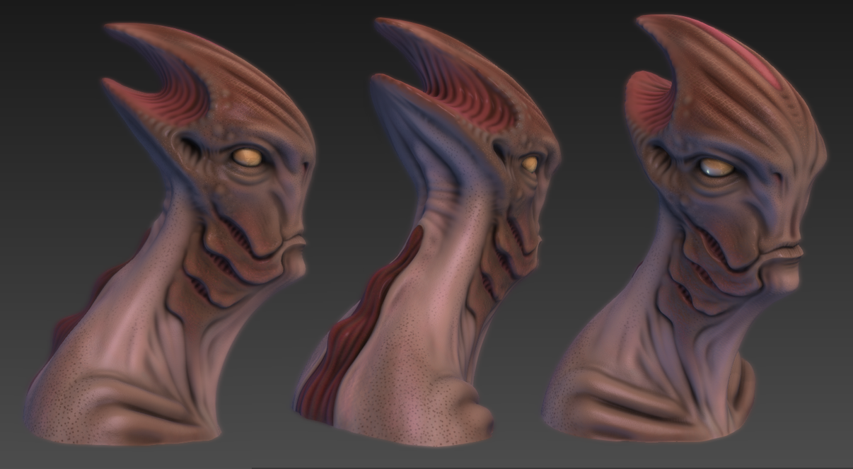 Mass Effect Alien WIP Mudbox Texture Paint by iyce42 on DeviantArt
