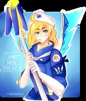 Combat Medic Mercy by rhythmicart