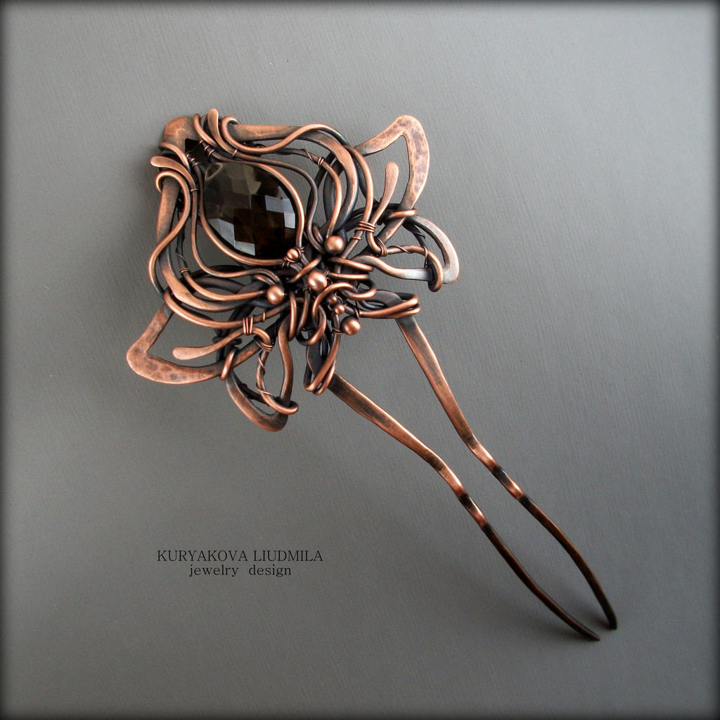 Copper lily by KL-WireDream
