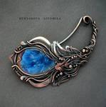 Flower copper brooch